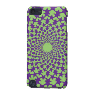 Krökt ipod touch case för stjärnor (lilor/grönt)