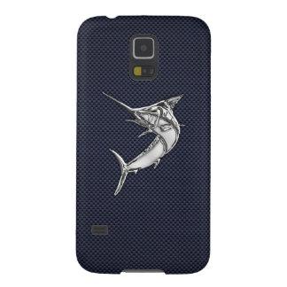 KromMarlinfisk på kolfibertryck Galaxy S5 Fodral