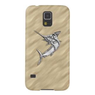 KromMarlinfisk på sandigt strandtryck Galaxy S5 Fodral
