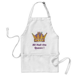 krona allt hagel drottningen! förkläde
