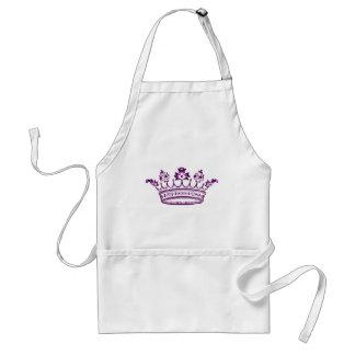 Krona för kungliga lilor förkläde