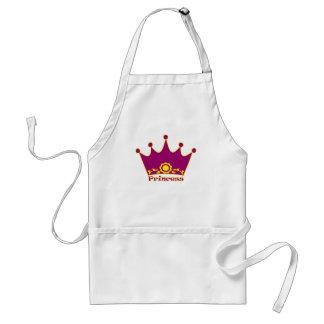 Krona för princess MY003 Förkläde