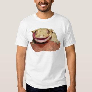 Krönad Gecko som ler och slickar Tee Shirt