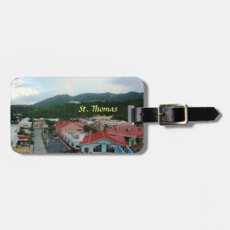 Kronafjärd, St Thomas, USVI-bagagemärkre Bagagebricka
