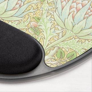 Kronärtskockor vid den William Morris art nouveau Gelé Mus-mattor