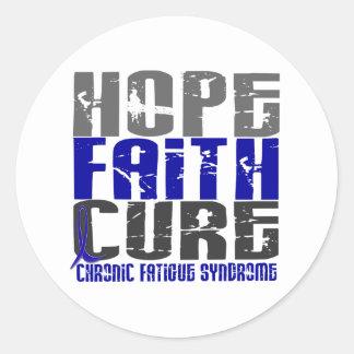 Kronisk hopptrobot CFS tröttar ut syndrom Runt Klistermärke