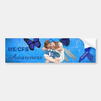 Kroniska ME/CFS tröttar ut liten flickaängelfen Bildekal