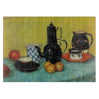 Kruka för kaffe för Vincent Van Gogh blåttemalj