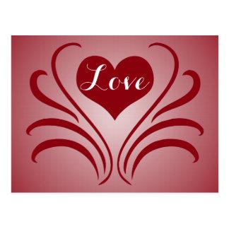 Krumeluren för kärlekhjärtaväderkorn stencilerar vykort