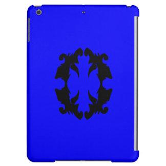 krusidull för mode för svart för iPadfodralblått