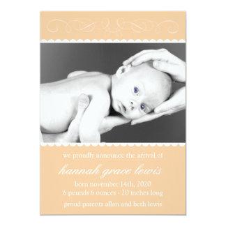 Krusidullnyfödd bebismeddelanden (orangen) personliga tillkännagivanden