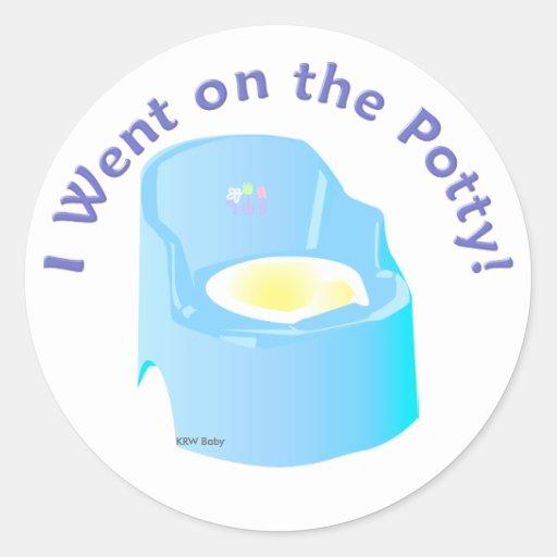 Krw-blått gick jag på pottautbildningsbelöningen rund klistermärke