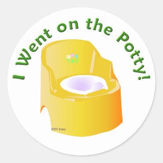 Krw-gult gick jag på pottautbildningsbelöningen rund klistermärke