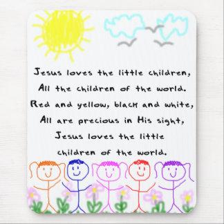 KRW Jesus älskar lite barnen Mus Mattor