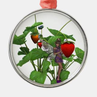 Krw-jordgubbeFaer prydnad Julgransprydnad Metall