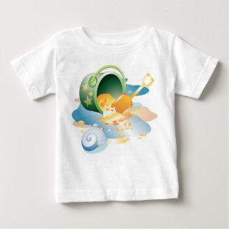Krw-skyffel och hinkspädbarn skjorta tee