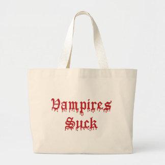 Krw-vampyrer suger genomblött blod jumbo tygkasse