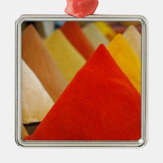 Kryddor Silverfärgad Fyrkantigt Julgransprydnad