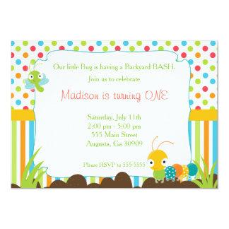 Kryp för party för Caterpillar inbjudanbarns 12,7 X 17,8 Cm Inbjudningskort