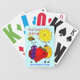 Kryp-Ögon & vingar som leker kort Spelkort