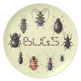 Kryp pläterar för insektfläktar tallrik