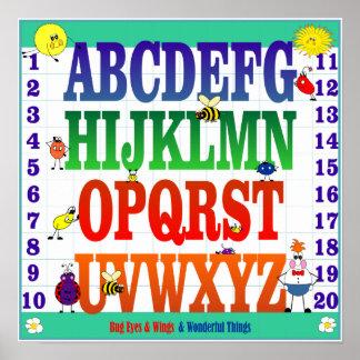 Kryp synar & påskyndar affischen ABC & 123's Poster