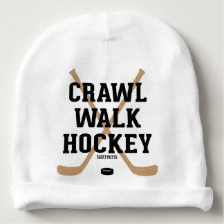 Krypandet går det gulliga babyspädbarn för hockey