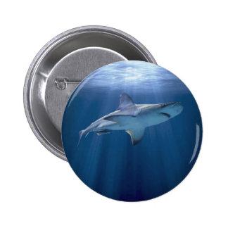 Kryssa omkring hajen standard knapp rund 5.7 cm