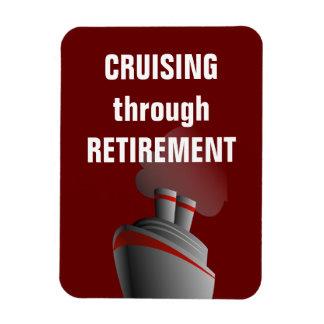 Kryssa omkring till och med röd pensionmörk - magnet