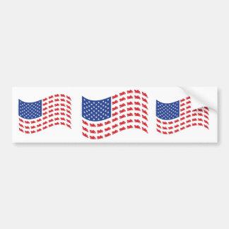 kryssare-flagga-vinka bildekal