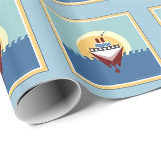 Kryssningfraktgåva som slår in papper presentpapper