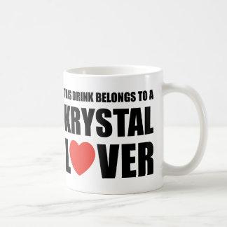 Krystal älskare kaffemugg