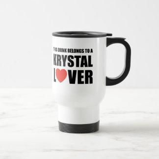 Krystal älskare resemugg