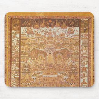 Kshitigarbha domare av helvete, från Dunhuang Musmatta