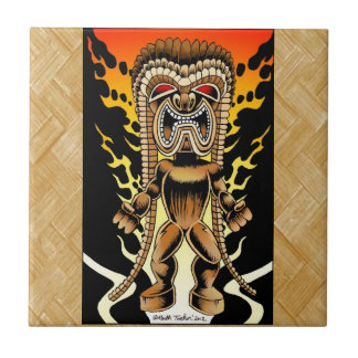 Ku hawaiansk Tiki gud Kakelplatta