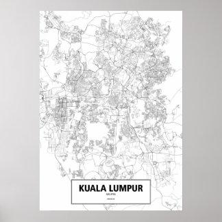 Kuala Lumpur Malaysia (svarten på vit, Poster