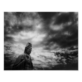 Kuan Yin statykonst fotograferar Poster