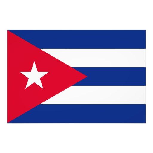 Kubaflagga Fotontryck