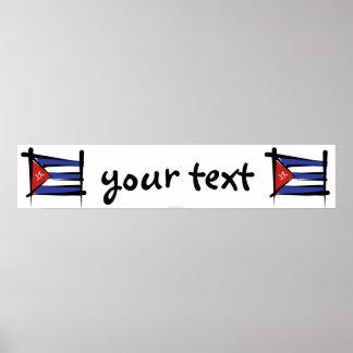 Kuban borstar flaggabanret poster