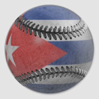 Kubansk baseball rund klistermärke