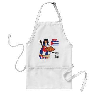 Kubansk cuisine Förkläde-Strimlat nötkött/Ropa Vie Förkläde