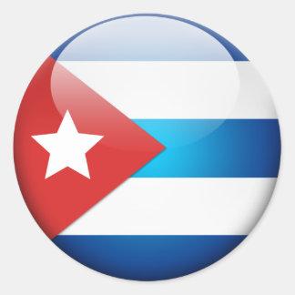 Kubansk flagga 2,0 runt klistermärke