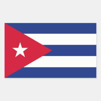 Kubansk flagga rektangulärt klistermärke