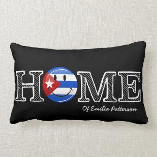 Kubansk pride som ler flaggahusvärmeapparaten kudde