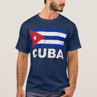 Kubavintageflagga T-shirt