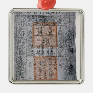 Kublai Khan, kejsare av chinan Julgransprydnad Metall