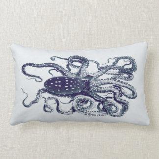 kudde-bläckiga blått för vintagebläckfisk lumbarkudde