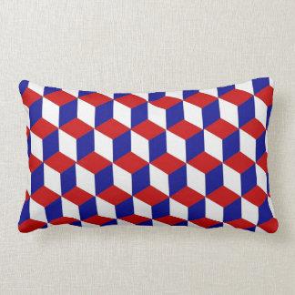 Kudde (lumbar) - den röda kvarterillusionen, vit, kudde