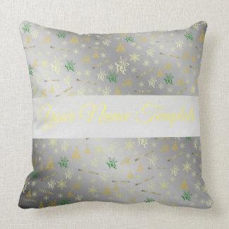 kudde, mallen, den blom- helgdag, elegant, färg, kudde