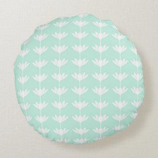 Kudde med grafiskt mönster rund kudde